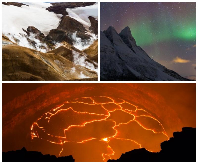 hawai islande norvege damienlb lac de lave aurore boreale