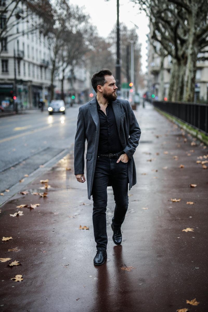 tenue fêtes homme DamienLB chemise manteau