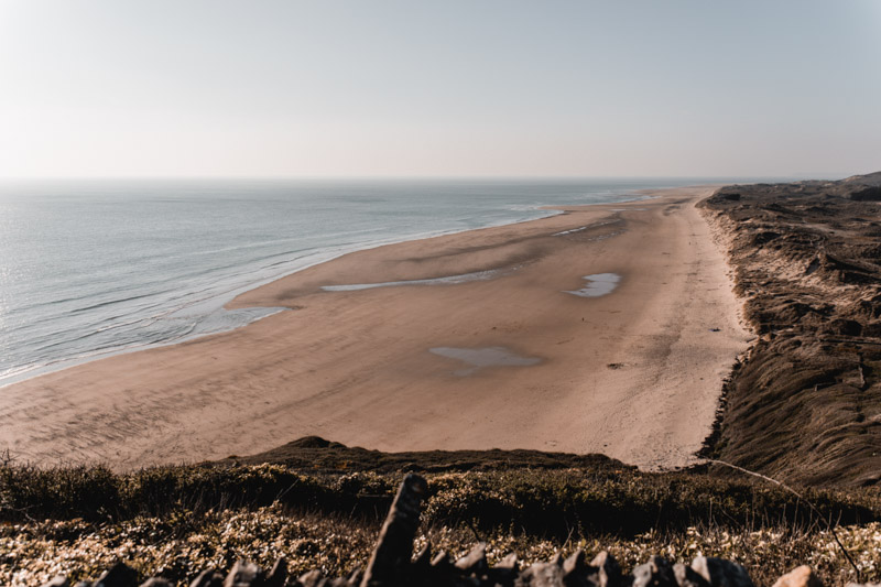 decouvrir le cotentin plage vieille eglise carteret damienlb