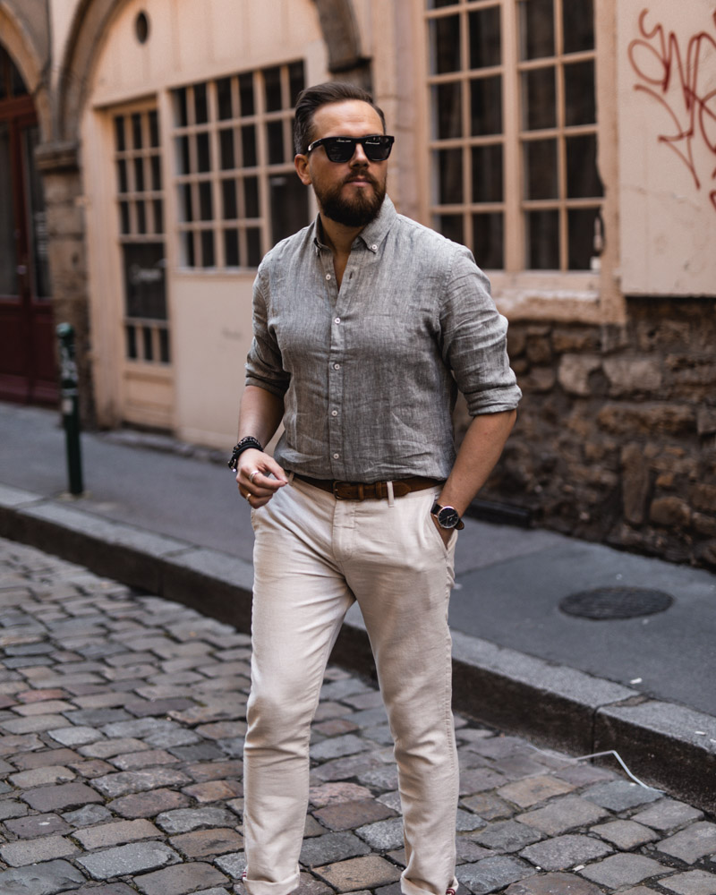 chemise en lin mango DamienLB